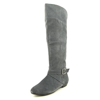 Chinese Laundry Newbie Women Round Toe Suede Gray Knee High Boot