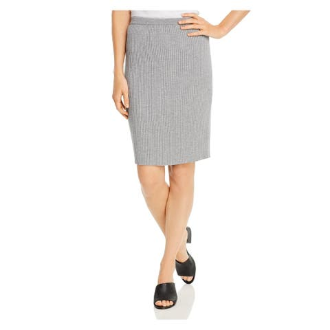 EILEEN FISHER Womens Gray Above The Knee Pencil Skirt Size L