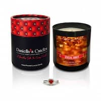 Daniella's Candles Sensual Amber Jewelry Candle, Ring Size 6