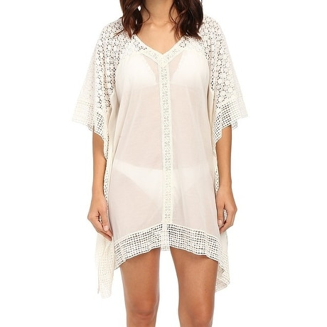 dafd1995bc5670 Shop Ella Moss NEW White Womens Size Large L Cover Up Crochet Tunic Top -  Free Shipping Today - Overstock.com - 20286123