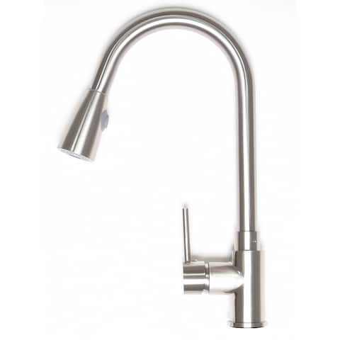 Zenvida Modern Single Handle High Arc Pull Down Kitchen Faucet