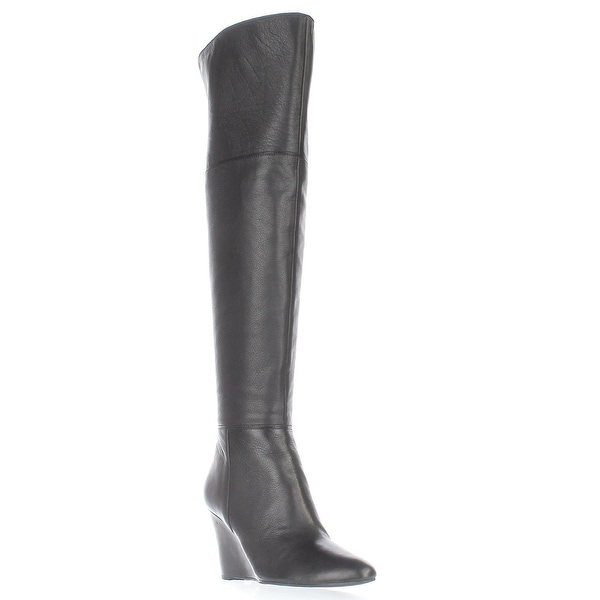 Via Spiga Kennedy Over-The-Knee Wedge Boots, Black