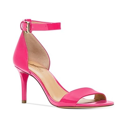 MICHAEL Michael Kors Womens Sienna Leather Open Toe Casual Ankle Strap Sandals