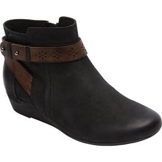 Rockport Women's Cobb Hill Joy Ankle Boot Black Pigskin