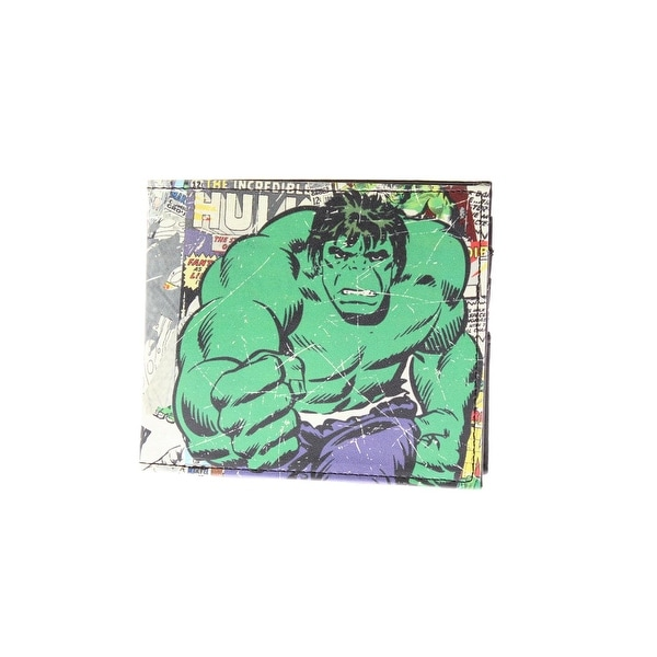 Marvel Mens Hulk Bifold Wallet Faux Leather Graphic - o/s