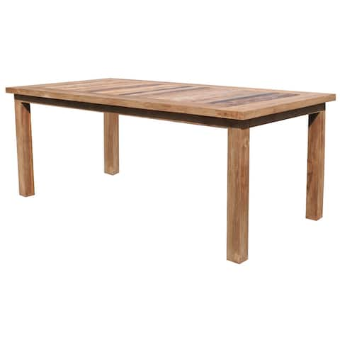 "Recycled Teak Wood Tuscany Dining Table - 79"" x 40"""