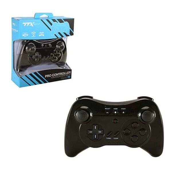 TTX TECH Black Wireless Controller for Nintendo Wii U Pro