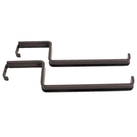Mintcraft GB0043L Deck Flower Box Railing Brackets, Black, Epoxy