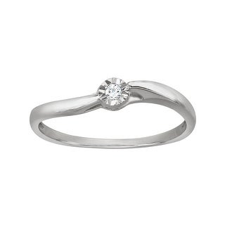 Ring with Diamond in Sterling Silver