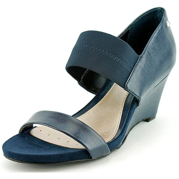 Alfani Maryka Women Open Toe Synthetic Blue Platform Sandal