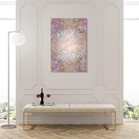 Oliver Gal 'Pretty Shine' Abstract Wall Art Canvas Print Paint - Gold, Blue