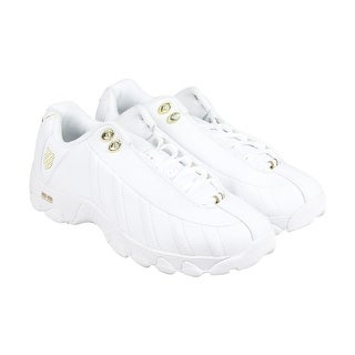 K-Swiss St329 CMF Mens White Leather Athletic Lace Up Training Shoes