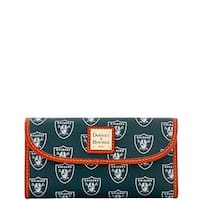 Dooney & Bourke NFL Oakland Raiders Continental Clutch Wallet (Introduced by Dooney & Bourke at $128 in Aug 2016)