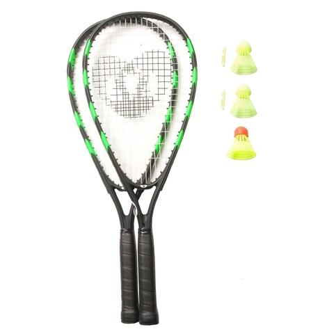 Crossminton Speed Badminton Set, 2 Racquets, 3 Speeder