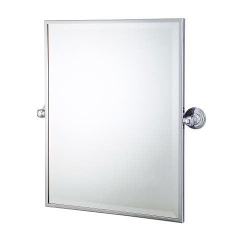 "Metal Retangular Mirror 18"" X 24"""