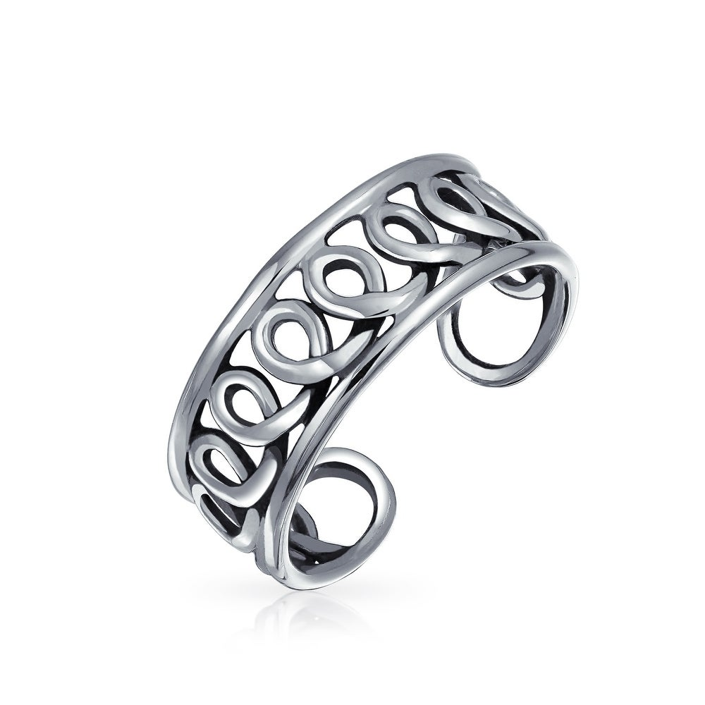 Braided Toe Ring Foot Jewelry  PCT46 Adjustable Toe Ring Modern Ring Sterling Silver Toe Ring Delicate Toe Ring Midi Ring