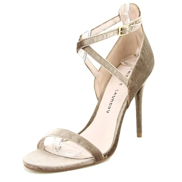 97ad9f0b6e609 Shop Chinese Laundry Lavelle Rich Velvet Nude Sandals - Free ...