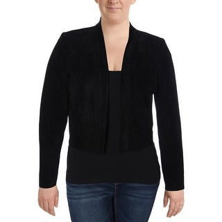 Calvin Klein Womens Jacket Faux Suede Open Front (2 options available)