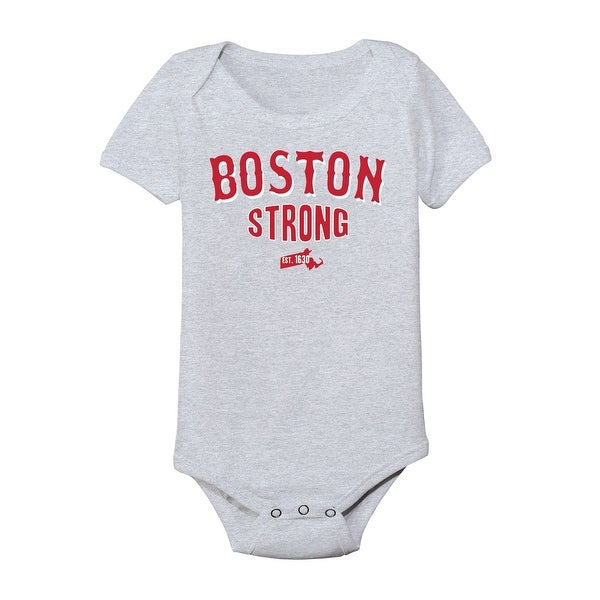 Boston Strong Red/White Funny Infant One Piece