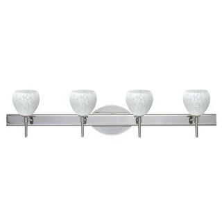 Besa Lighting 4SW-560519 Tay Tay 4 Light Reversible Halogen Bathroom Vanity Light with Carrera Glass Shades