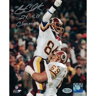 Gary Clark Autographed Washington Redskins 8x10 Photo Point INSC SGC