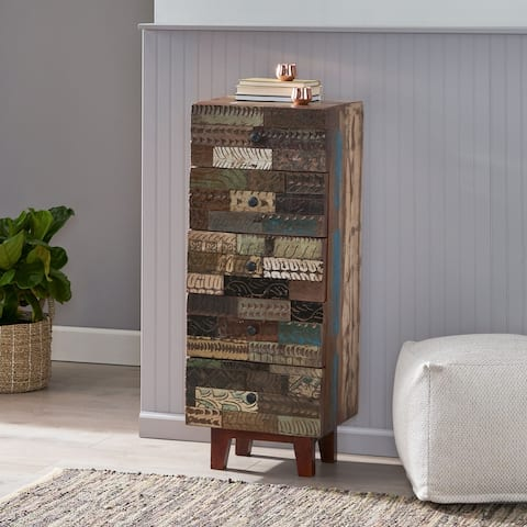 Maysville Indoor Handcrafted 4 Drawer Cabinet by Christopher Knight Home
