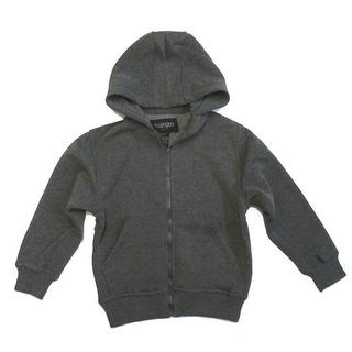 Boys Charcoal Lightweight Pockets Fleece Zipper Hoodie Jacket 8-16
