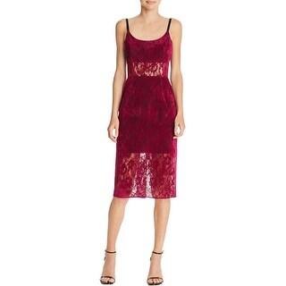 ABS by Allen Schwartz Womens Party Dress Velvet Lace