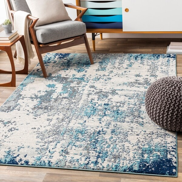 Aveza Modern Abstract Area Rug. Opens flyout.