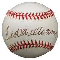 Ted Williams Red Sox Signed Official American League Baseball BAS A73165