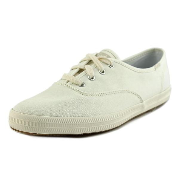 Keds Champion Women W Round Toe Canvas White Sneakers