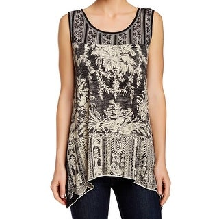 Edista NEW Black Beige Women's Size Small S Embellished Tank Top