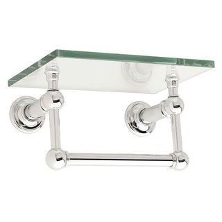 "Ginger 4519T-9 9"" Tempered Glass Shelf with Towel Bar from the Columnar Collection"
