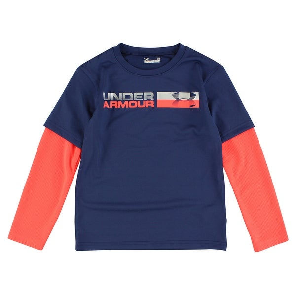 bab77e79684f Shop Under Armour Boys Blue Knights Long Sleeve T Shirt Navy Blue - navy  blue bright orange reflective silver - Free Shipping On Orders Over  45 -  Overstock ...