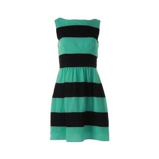 B. Darlin Womens Juniors Tank Dress Chfifon Striped - 7/8