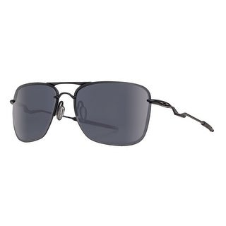 Oakley Tailhook OO4087-01 60mm Satin Black Gray Men's Navigator Sunglasses - Satin Black - 60mm-15mm-121mm