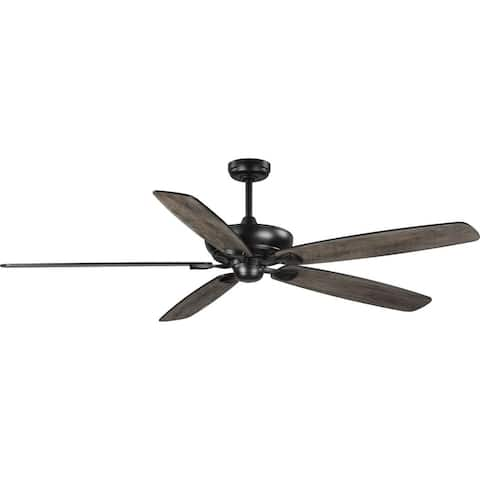 Kennedale Collection 72-Inch Five-Blade DC Motor Transitional Ceiling Fan Charcoal Black - 72 in x 72 in x 18 in