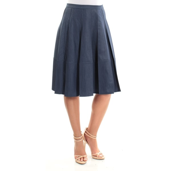 7d853d6a74 Shop TOMMY HILFIGER Womens Navy Below The Knee Paneled Skirt Size: 2XS -  Free Shipping On Orders Over $45 - Overstock - 21511819