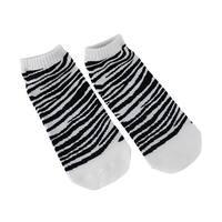 Women`s Ankle Socks Black and White Zebra Stripes