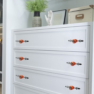 Ceramic Knobs Drawer Handle Cupboard Wardrobe Cabinet Accessories 4pcs Brown