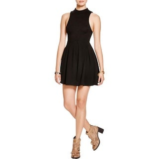 Free People Womens Layla Party Dress Cut-Out Open Back