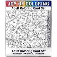 "Joy Of Coloring Adult Coloring Card Set 4""X5.5""-Nature's Wonders"