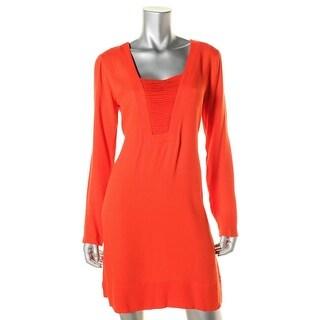 Ella Moss Womens Illusion Textured Wear to Work Dress
