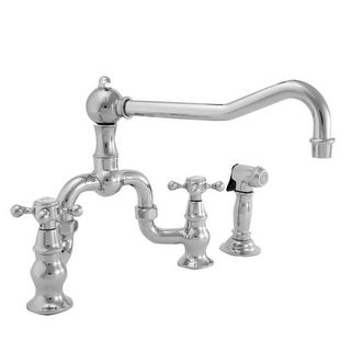 Captivating Newport Brass 9452 1 Chesterfield Double Handle Bridge Kitchen Faucet With  Side Spray And Metal