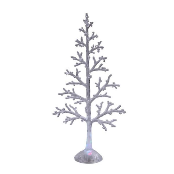 """Pack of 2 Icy Crystal Decorative Illuminated Christmas Winter Tree Figures 23"""" - CLEAR"""