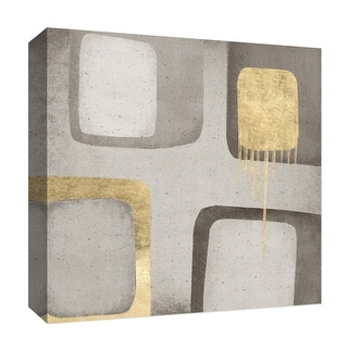"PTM Images 9-126813  PTM Canvas Collection 12"" x 12"" - ""Golden Touches"" Giclee Abstract Art Print on Canvas"