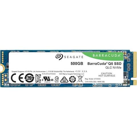 Seagate BarraCuda Q5 M.2 2280 500GB PCIe Internal Solid State Drive - Black