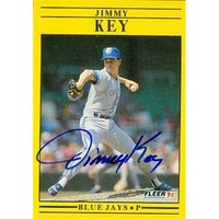 Shop Jimmy Key Autographed Baseball Card Toronto Blue Jays