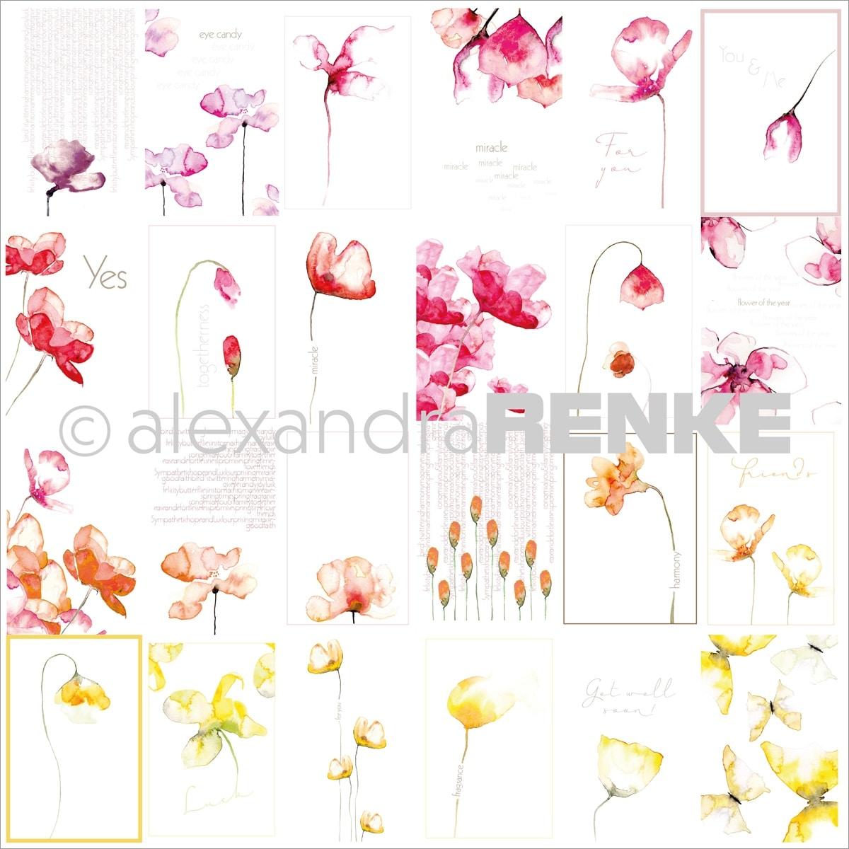 "Alexandra Renke Midori Basic Design Paper 12/""X12/""-Glasses With Pattern"