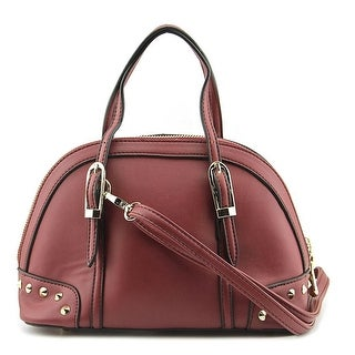MG Collection Irina Mini Studded Satchel    Synthetic  Satchel - Red